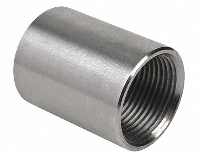 "BSPT 3 / 4 "" Steel Pipe Coupling Class 3000 Stainless Steel ASTM A182 F316"