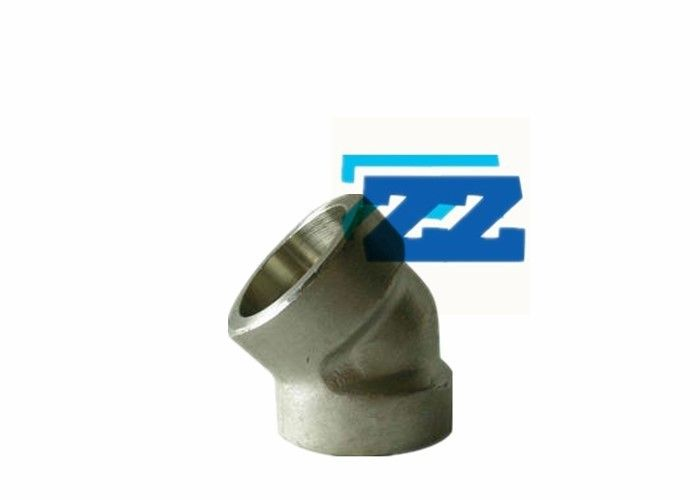 "45 Degree Steel Pipe Elbow Socket Weld 3 / 8 "" 6000 # A694 F52 ASME B16 11"